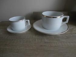 Zsolnay pajzspecsétes szettek-teás +kávés