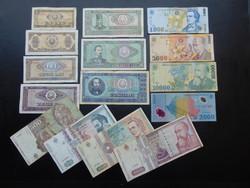 Románia 15 darab bankjegy LOT !