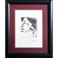 Pablo Picasso, Litográfia Homme dévoilant une femme (Man Unveiling a Woman)