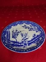 Japán porcelán, cseresznyevirágos teáscsésze alátét, átmérője 13 cm.