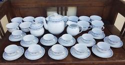 12 személyes 50 darabos arzbergi teás és kávés készlet együtt