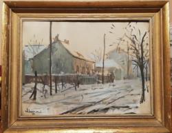 Murai Jenő pestújhelyi utcarészlet 1939.