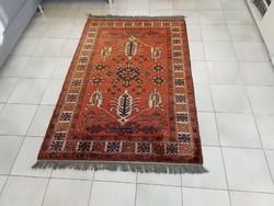 Afgán félantik kaukázusi minta 100x155 kézi csomózású gyapjú perzsa szőnyeg MM_602