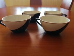 Hollóházi kávés csésze 4 db- retro