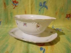 F_010 Nagyon szép Bavaria porcelán szószos kínáló tál