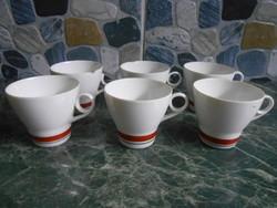 JRJS Cluj kávéskészlet kávéscsésze román porcelán 6 db