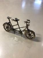 Antik Ezüst Miniatűr Tandem Bicikli Eladó & Csere LEÁRAZVA !