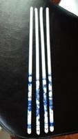 Kínai porcelán evőpálcika 4 db, újak, kék mintával