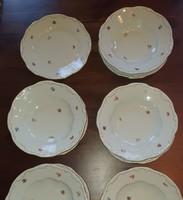 Zsolnay 6 db mély tányér 5 db lapos tányér együtt