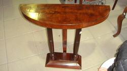 Art-Decó konzol asztal, felújítva