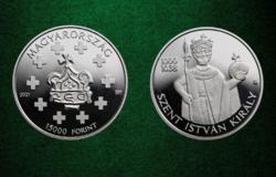 15000 forint 2021 - Szent István - ezüst emlékpénzérme - PP UNC
