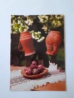 Retro húsvéti képeslap 1985 cserépkorsós levelezőlap