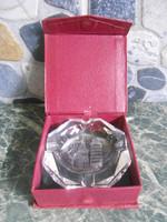 Hamutartó hamutál üveg Pisa díszdobozban 8*8*2 cm