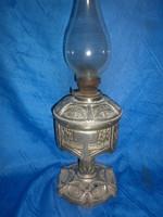 Antik nagyméretű fém szecessziós petróleum lámpa