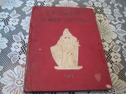 A Budapest Album Naptára   1914 .szerk. Gara J.  20 x 26 cm , 170 oldalon