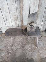 Régi bőr varró szék