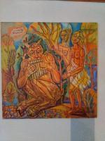 JÓZSA JÁNOS festőművész  Csábítás pánsíppal