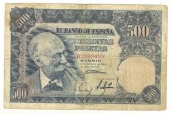 500 peseta 1951 Spanyolország Ritka