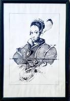Dienes Gábor - Lány 45 x 32 cm szitanyomat 1998
