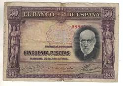 50 peseta 1935 Spanyolország