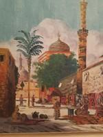 Bácskay festmény,  utcarészlet
