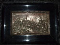 Bronz falikép csatajelenet  1700.as évek