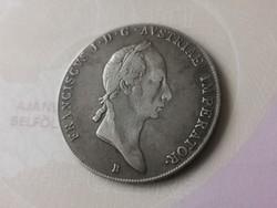 """1825""""B""""I.Ferenc tallér Ritka 28 gramm 0,833 szép darab"""