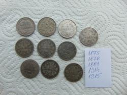Németország ezüst 1 márka 10 darab LOT !!!