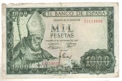 1000 peseta 1965 Spanyolország