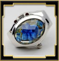 Gyűrű, működő órával ABGY-Ó07 kék