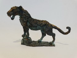 Tóth Ernő - Jaguár bronz kisplasztika