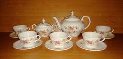 Régi Gránit teás készlet 5 személyes (F-1)