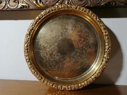 Régi aranyozott súlyos fém tálca 20 Jahre Redoute Okt.1979 (Ér-577)