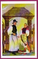 E - 0035 - - - Irredenta (reprint) képeslap - Külhoni népviselet,  Kalotaszegi