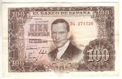100 peseta 1953 Spanyolország kiváló