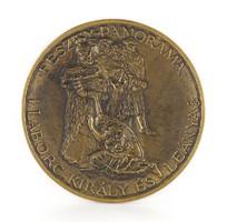 1C905 Lapis András : FESZTY-PANORÁMA Labarc Király és leánya 17 cm