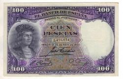 100 peseta 1931 Spanyolország 2. kiváló