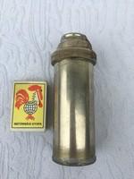 Orvosi üveg fecskendő Eredeti Kígyós fém tartóval -tokkal - injekciós tű