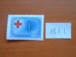 MAGYAR POSTA 3 + 1,50 FORINT 1957 évi légiposta - jótékonysági bélyegek 181 I