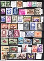 Román pecsételt bélyeg összeállítás (16.) 42 db 27,30 EUR (d 937)