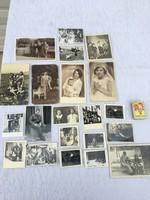 21 darabos Retro fekete - fehér  fénykép , családi , katona , kerékpár  ,1930 -as évek