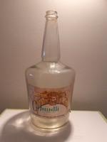 Retro Cirfandli boros üveg régi címkés palack