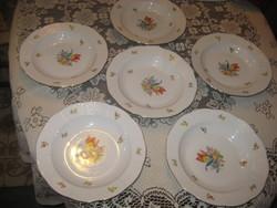 Ó-herendi  tányér készlet  ,6 db , 245 mm x 40 mm