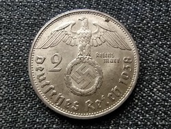 Németország Horogkeresztes .625 ezüst 2 birodalmi márka 1938 B (id23044)