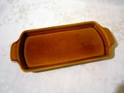 F_043 Antik, jelzett Gránit kerámia szendvics, sütemény kínáló tálca