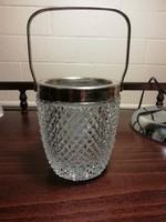 Vastag kristályüveg jégkockatartó