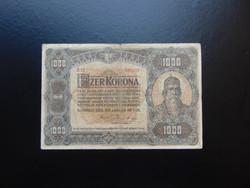 1000 korona 1920 B 02 nagy méretű bankjegy