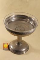 Antik üvegbetétes asztalközép kínáló 191