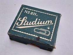 Retro Studium iratkapocs doboz régi irodaszer