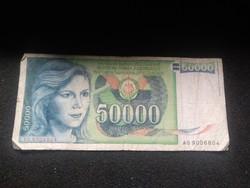 Jugoszlávia 50000 Dínár 1988